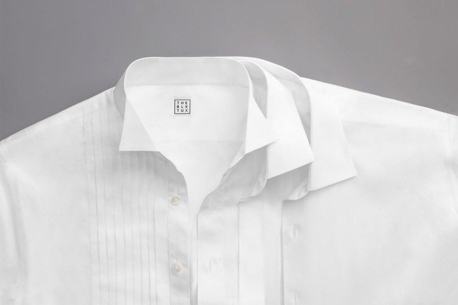 Tuxedo shirt collars.