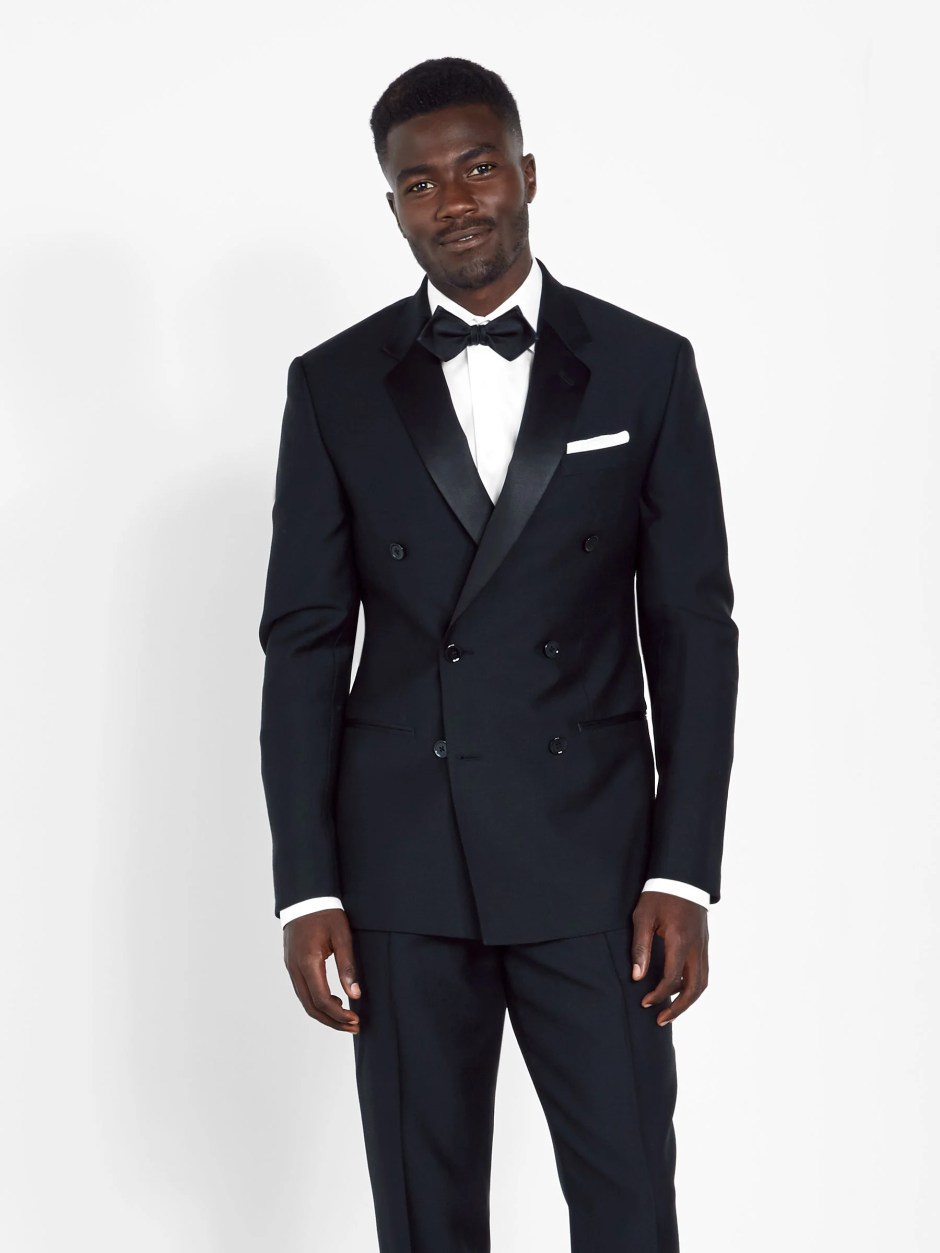 marketable utterly stylish new selection Black Tuxedo With Black Shirt And Red Bow Tie | RLDM