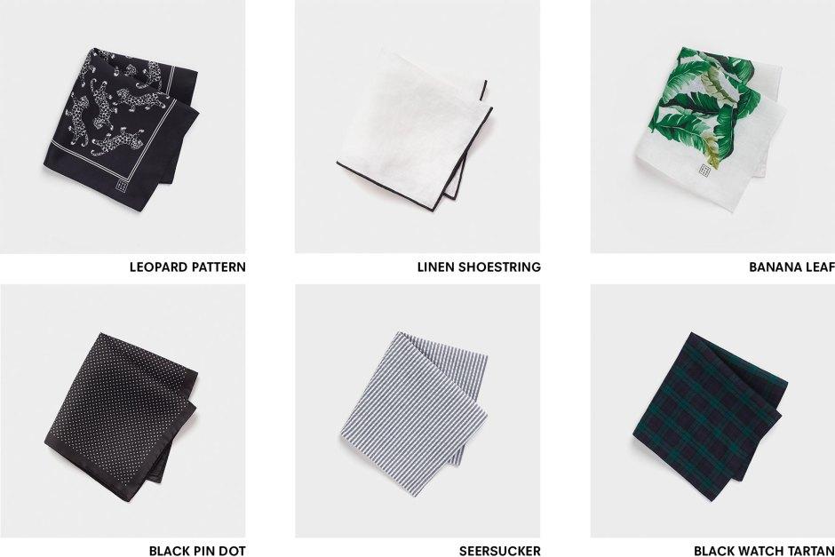 Tuxedo pocket squares.