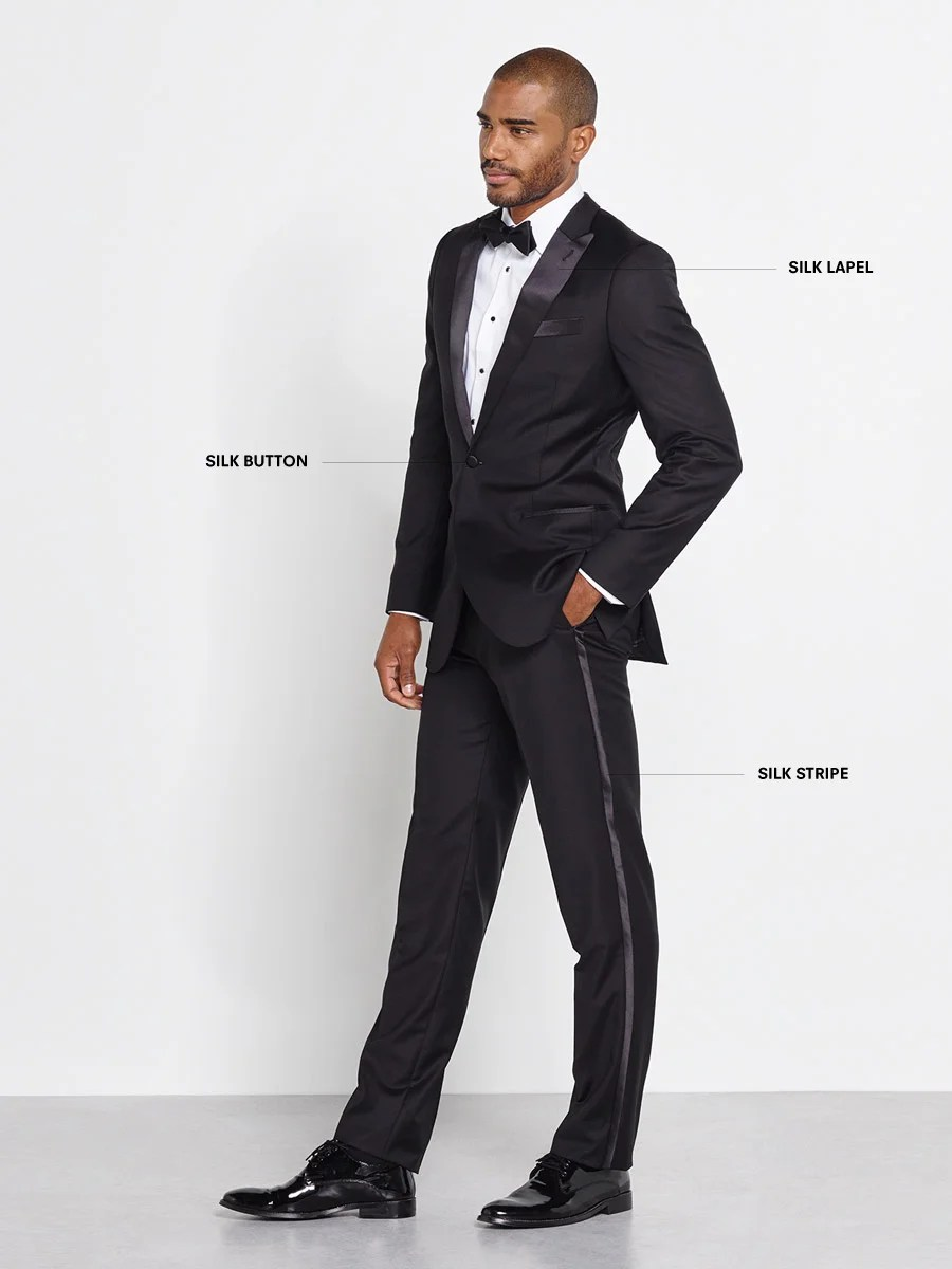 Detailed graphic of a prom tuxedo.