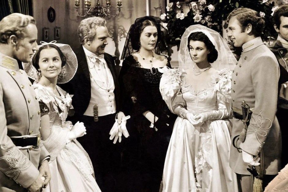 Gone With the Wind wedding scene.