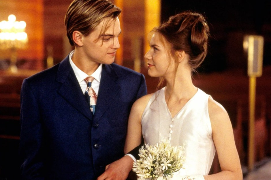 In one of our best movie weddings, Romeo and Juliet get married.