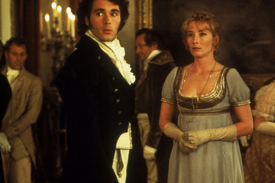 Emma Thompson gets married in Sense and Sensibility.