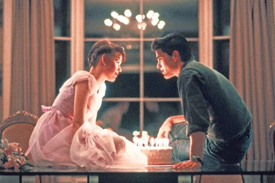 Sixteen Candles birthday cake scene.