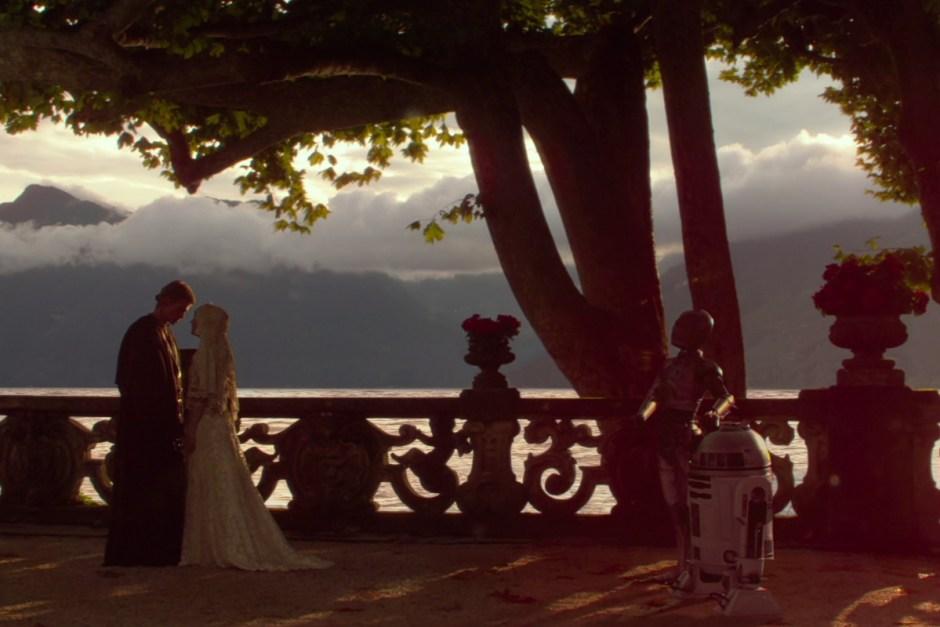 Star Wars Episode II: Attack of the Clones wedding scene.