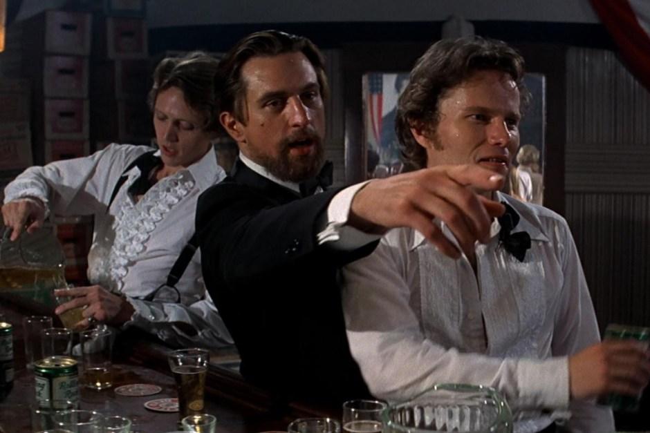 Robert DeNiro and Christopher Walken in the wedding scene in The Deer Hunter.