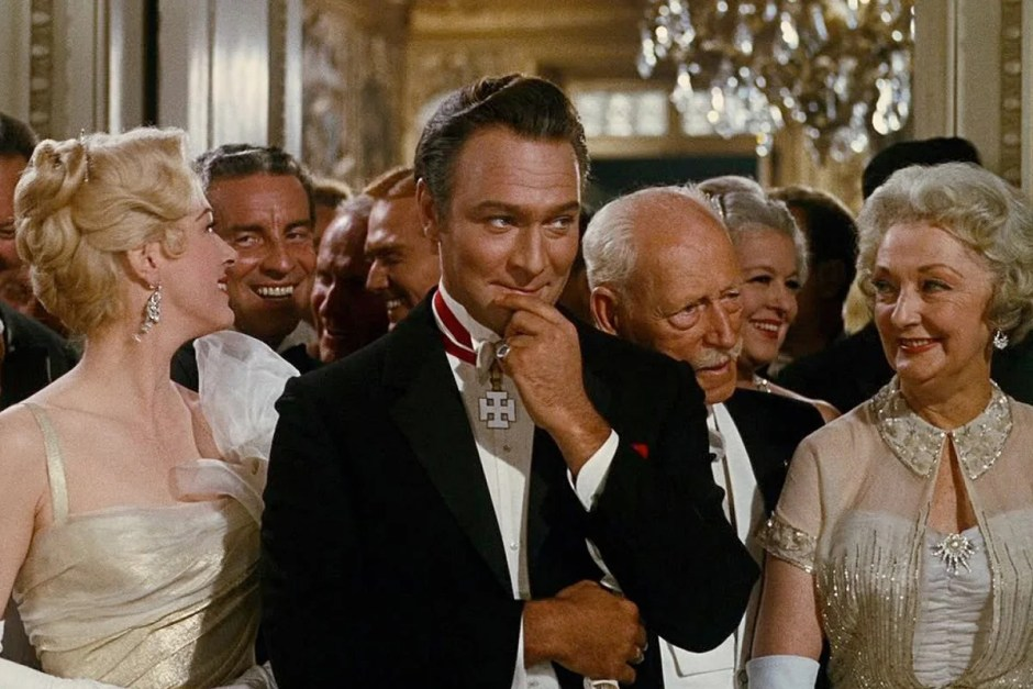 Wedding guests smile in The Sound of Music.
