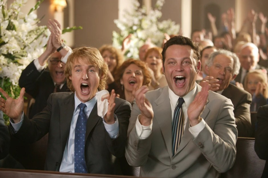 Owen Wilson and Vince Vaughn in Wedding Crashers.