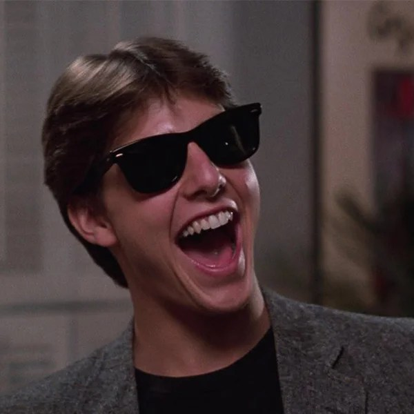 Tom Cruise Ray-Ban Wayfarers.
