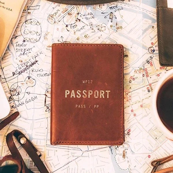 Leather passport case from WP+Standard.