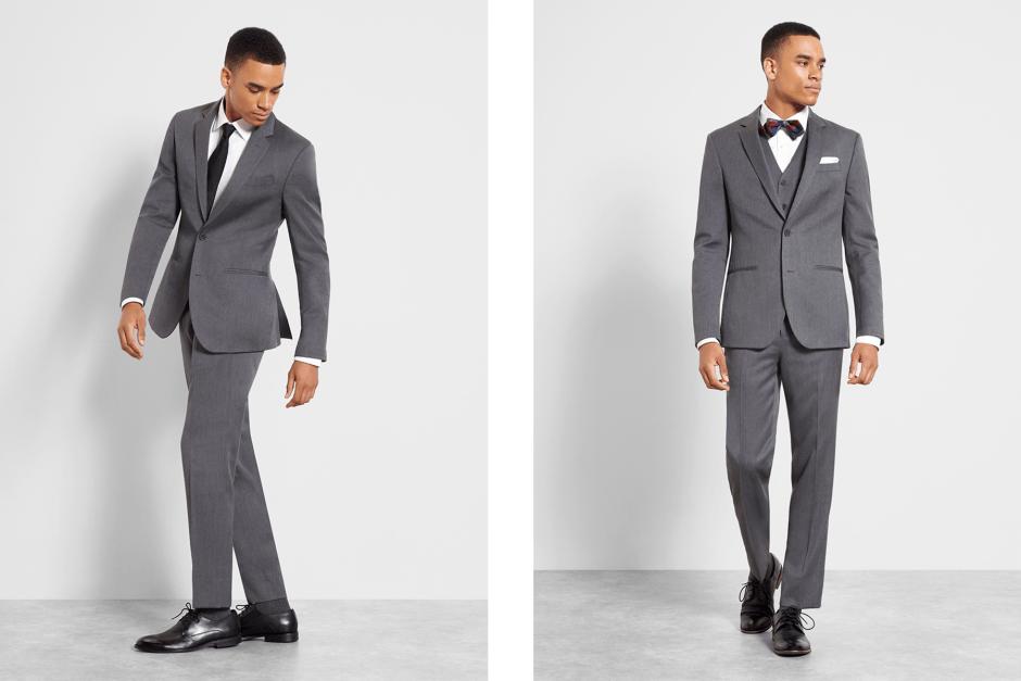 Grey men's suit by The Black Tux.