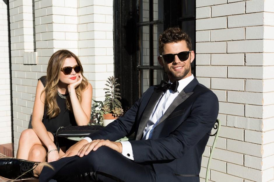 A man in a midnight blue tuxedo follows black tie dress code.
