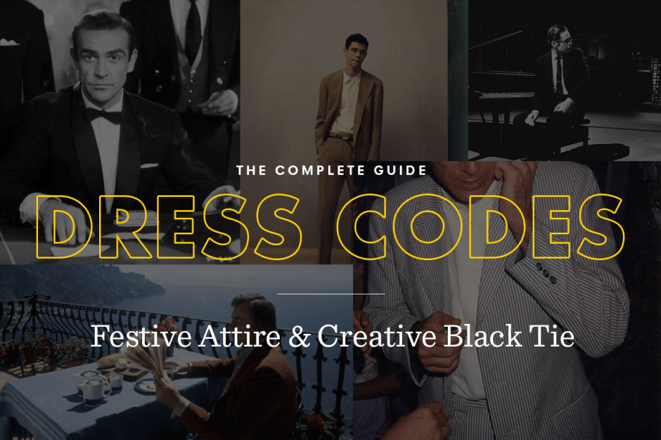 Festive attire and creative black tie dress code guide