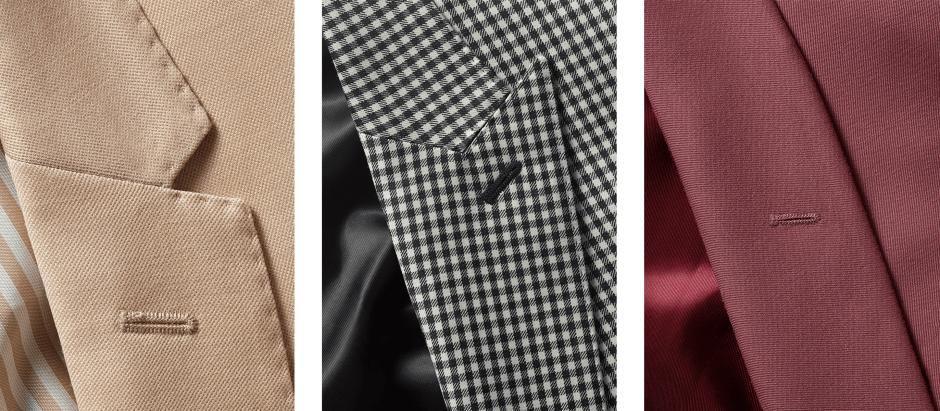 Modern suit styles of lapels