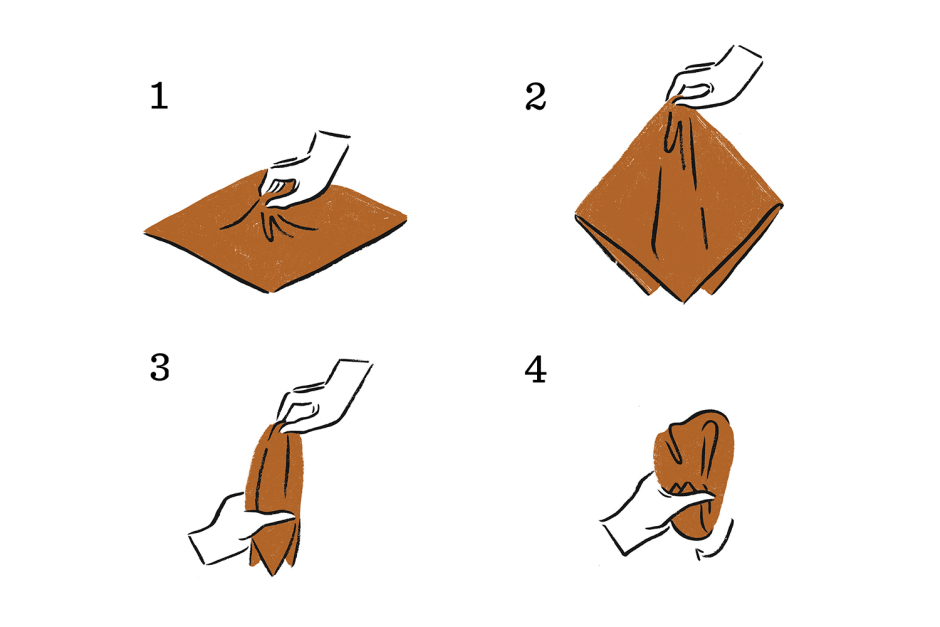 pocket square puff fold