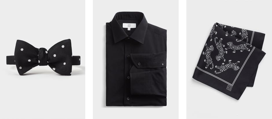 modern black tie accessories