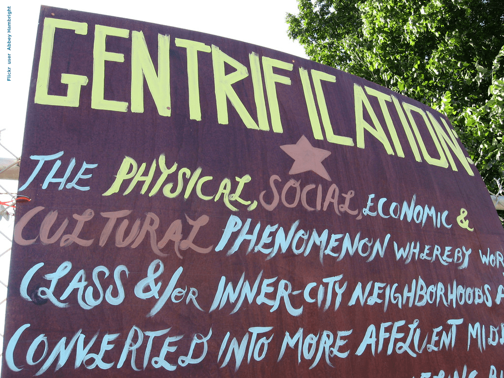 Gentrification by Flickr user Abbey Hambright
