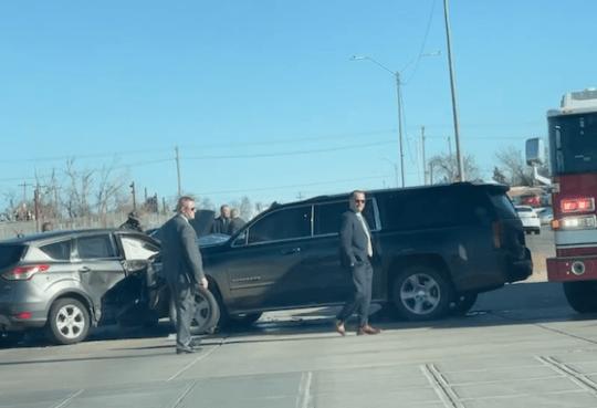 Oklahoma First Lady Sarah Stitt crashes and wrecks
