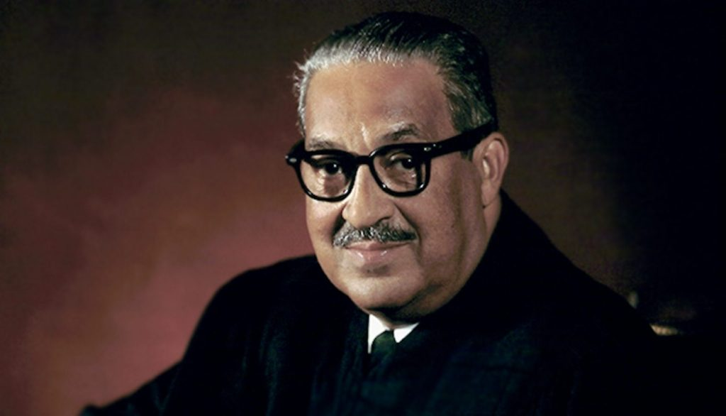 Thurgood Marshall Clarence Thomas supreme court brown v board of education