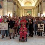 Protesters against mask, vaccine mandates flood Oklahoma Capitol building 💥👩👩💥