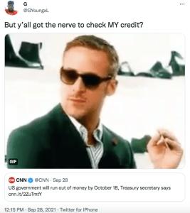 govt credit shutdown tweet