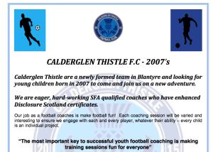 Calderglen Thistle Football Club
