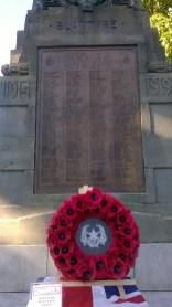 2015 10th June. Blantyre Cenotaph remembering Captain James Brown.