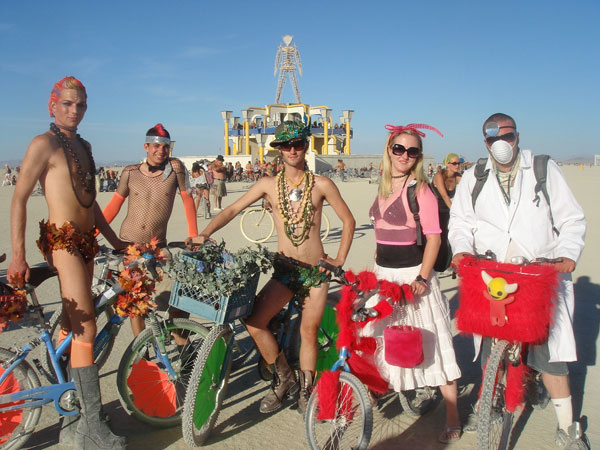 Thats Adam on the far left at Burning Man.