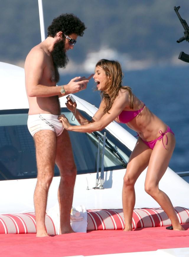 Sacha Baron Cohen Murders Elisabetta Canalis On A Yacht