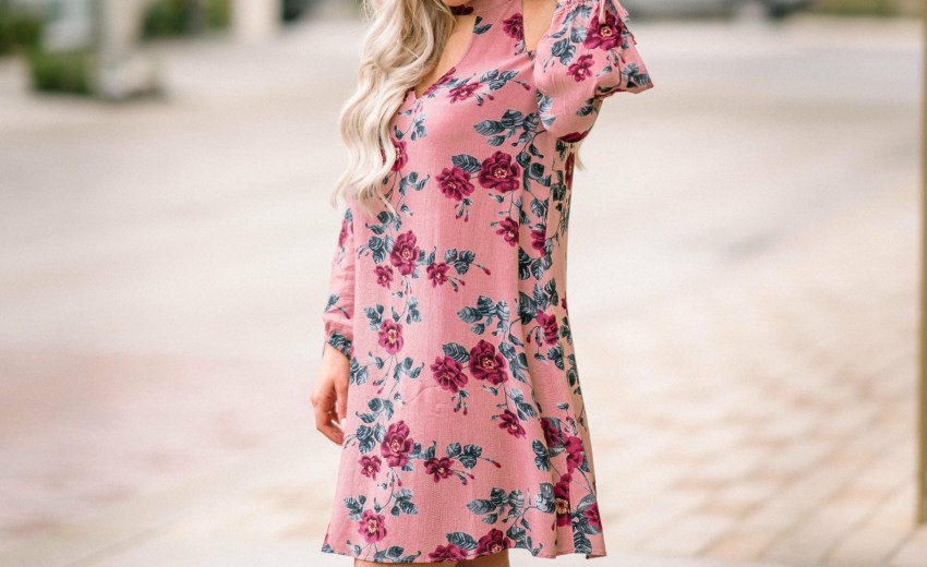 Floral Cold-Shoulder Dress