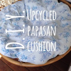 Papasan Chair Cushion Covers Diy With Refrigerator Upcycled  The Blender