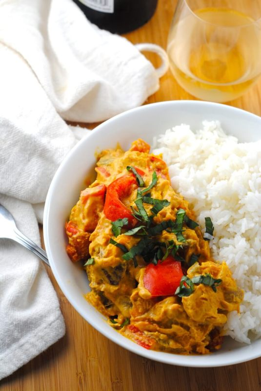Vegan Thai curry with Kabocha Squash
