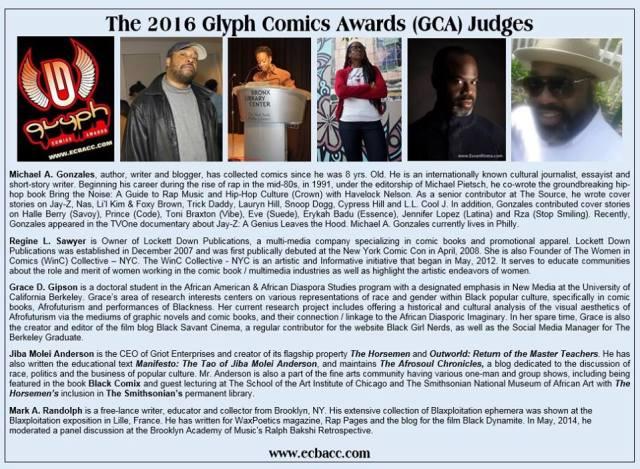 glyph comic awards, judges, theblerdgurl, ecbacc