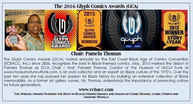 Pamela Thomas_GCA, glyph comic awards, ecbacc, theblerdgurl