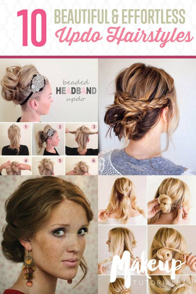 10 updo hairstyle tutorials for medium length hair - the