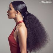 gorgeous natural hair ponytail