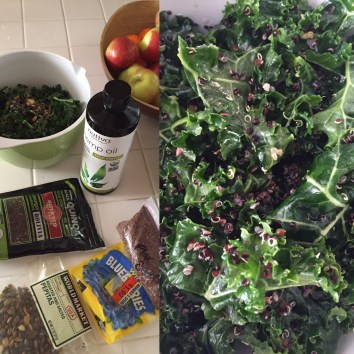 Killer Kale & Quinoa Salad (recipe below)