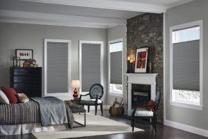 Comfortex Color Lux Cellular Shades in Grey