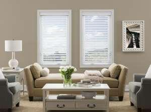 Simple yet elegant white wood blinds