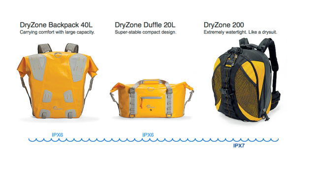 From www.lowepro.com/dryzone