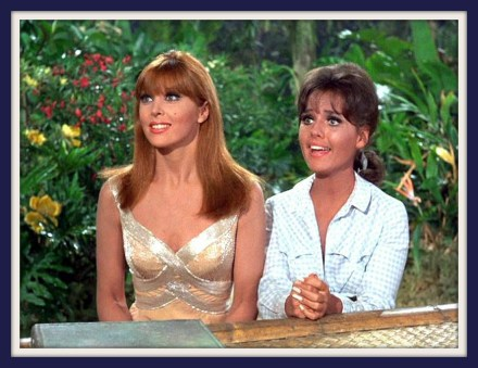 Tina-Louise-and-Dawn-Wells-in-GILLIGANS-ISLAND-video-still