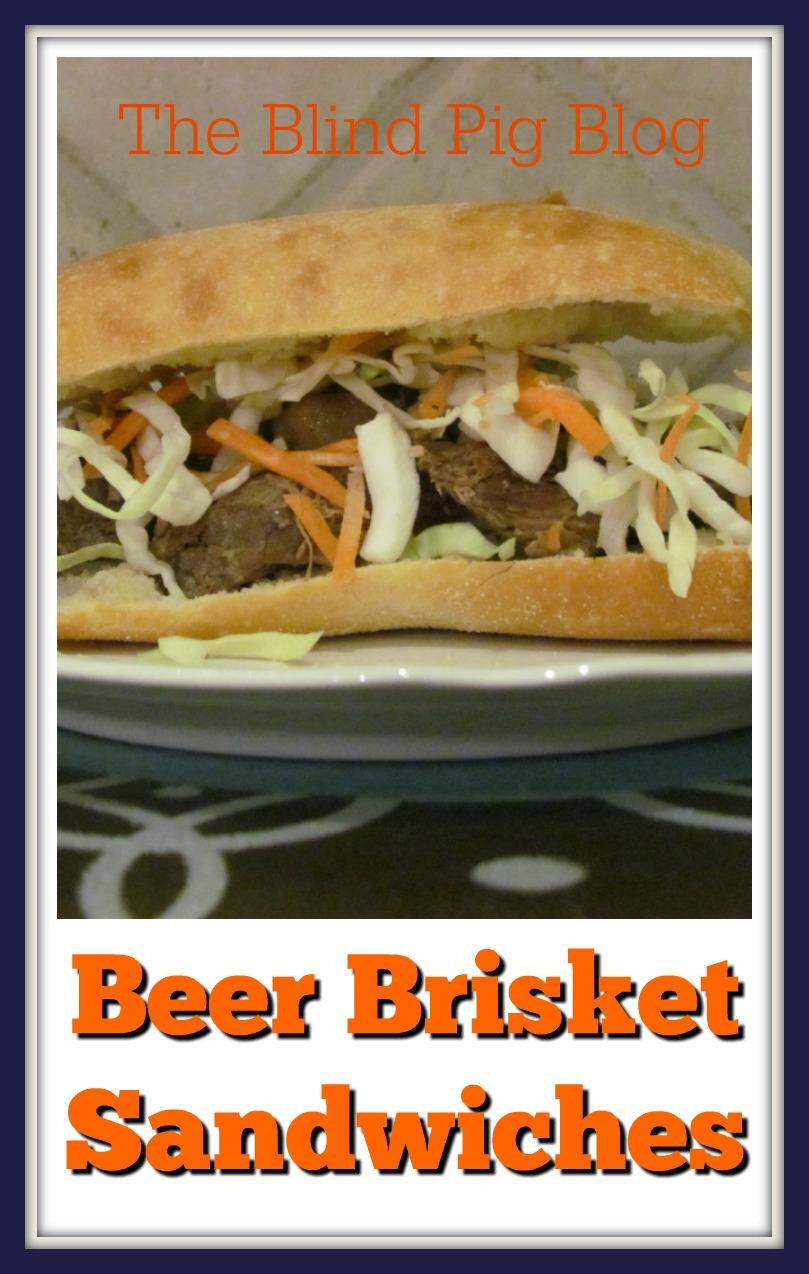 beer brisket sandwiches