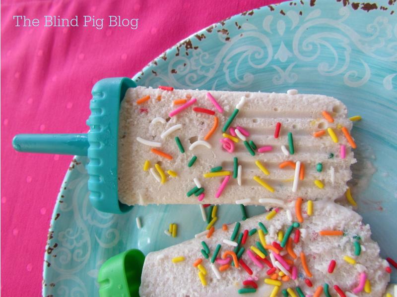 Cake Batter Rum Ice Cream Bars