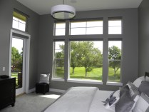 Motorized roller shades up & part way down