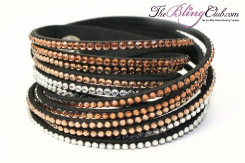the-bling-club-12-row-brown-ombre-multi-swarovski-crystal-vegan-leather-wrap-bracelet
