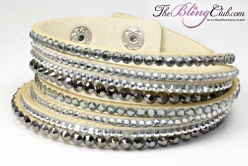 theblingclub.com tan crystal swarovski wrap bracelet