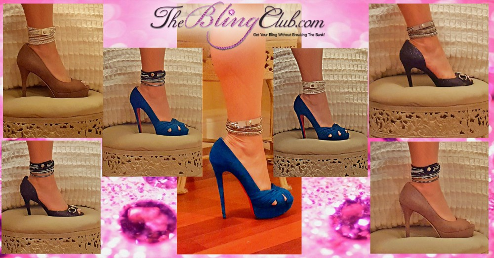 The Bling Club shows you how to wear your Crystal Wrap Bracelets as Anklets