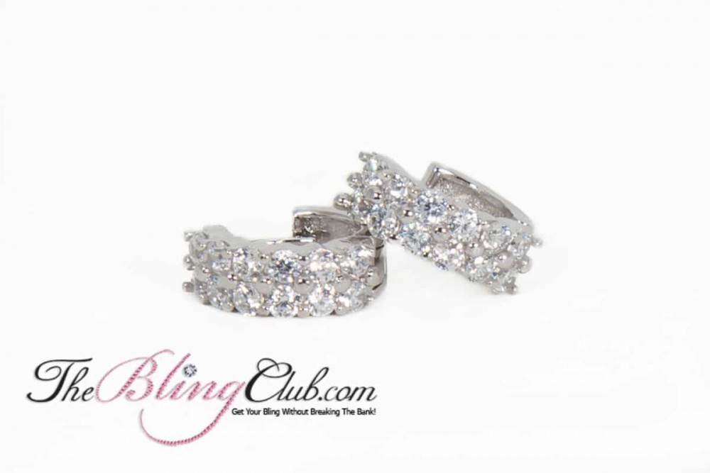 Swarovski Elements Crystal Bridal Rings In Sterling Silver