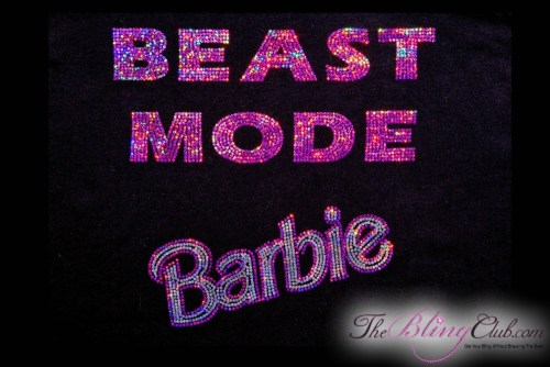 theblingclub.com beast mode barbie tank closeup pic