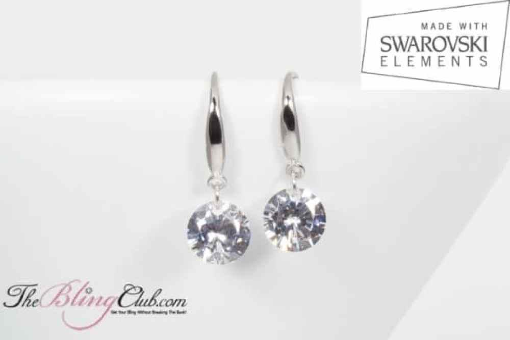 theblingclub.com single drop swarovski naked earrings